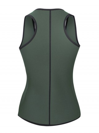 Comfort Revolution Blackish Green Neoprene Shaper Zipper Waist Trainer