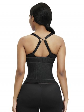 Curvy Black Neoprene Waist Trainer Sticker Big Size Instantly Slims