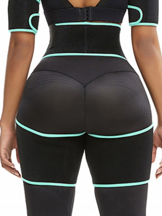 Light Green Sticker Cut Out Patchwork Thigh Trainer Meticulous Design