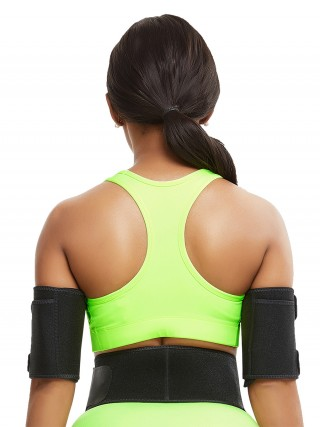 Miracle Black 2 Pieces Repel Sweat Arm Shaper Neoprene Breathability