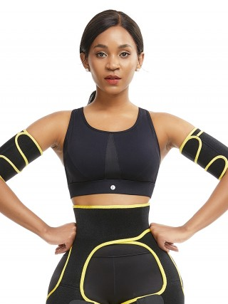 Superfit Yellow Adjustable Sticker Neoprene Arm Shaper Instant Slimmer