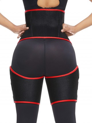 Best Selling Red Neoprene Thigh Trimmer Tummy Control Body Shaper