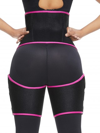 Extended Rose Red High Waist Sticker Neoprene Thigh Shaper Sleek Smoothers