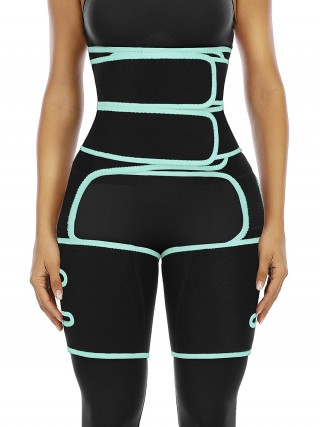 Light Green Neoprene Waist And Thigh Trimmer Figure Shaping