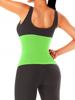 Green No Steel Bone Neoprene Waist Trainer Back Support