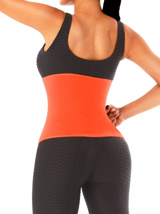 Orange Zipper Neoprene Waist Trainer Plus Size Body Trimmer