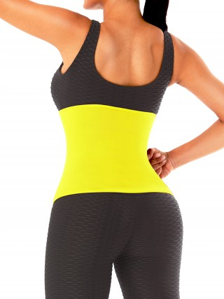 Yellow Neoprene No Steel Bones Waist Trainer Slimming Stomach