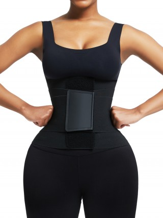 Black Neoprene Waist Trainer 5 Plastic Bones Sticker Fat Burning