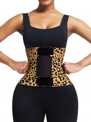Leopard Print Neoprene Queen Size Waist Cincher Visual Effect