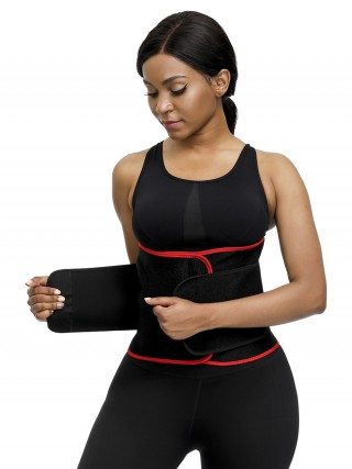 Hidden Curves Red Neoprene Waist Shaper Sticker Steel Bones