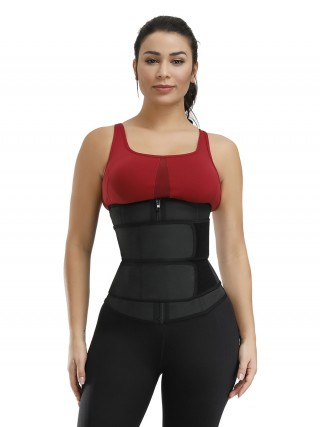 Abdominal Slimmer Black 7 Steel Bones Big Size Latex Waist Trainer Fashion