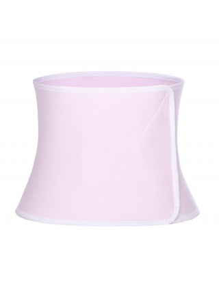 Pink Hourglass Shape Postpartum Belt Sticker High-Compression