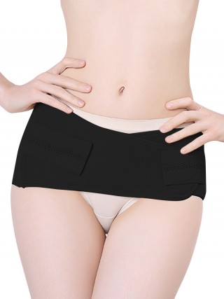Classic Black Solid Color Low Rise Postpartum Band Body Slimmer