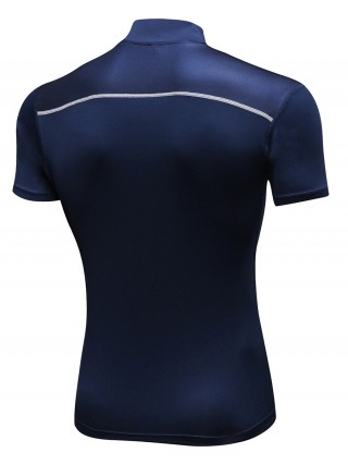 Happy Boy Dark Blue Moisture Wicking Men's Sports Top Stretchy