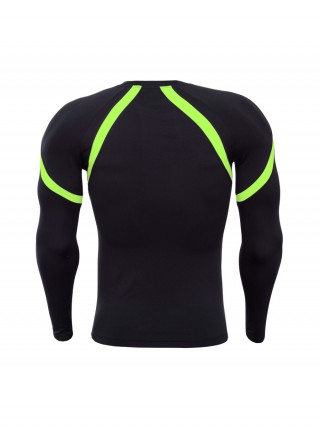 Ruching Green Full Sleeve Line Print Running Top Understated Design