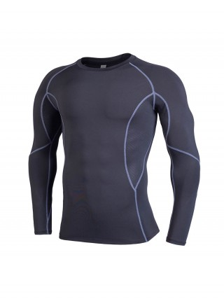 Best Design Black Men's Running Top Mesh Full Sleeve Online Wholesale