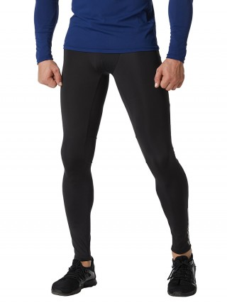 National Black Men's Leggings Solid Color Reflective For Men