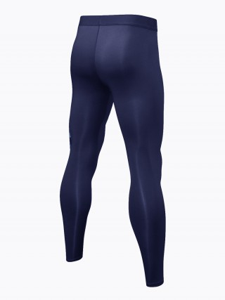 Super High Navy Blue Training Pants Quick Drying Pocket Slim Legs