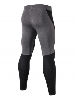 Paradise Black Seamless Men's Leggings Full Length Leisure Wear