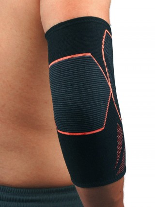 Well-Suited Orange Elbow Guard Sleeve Non-Slip Insert