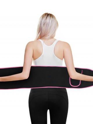 Sports Series Fitness Waist Support Sticker Belt With Pocket