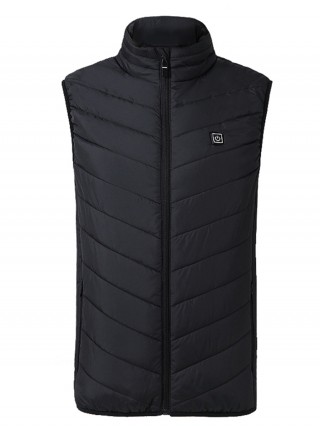 Tailored Black USB Heating Vest With Zip Pockets Ladies Fashion