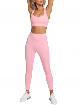 Pink Full Length High Waist Running Suit Best Design