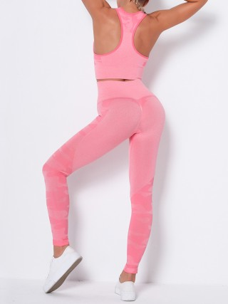 Comfortable Pink Wide Strap Athletic Suit Full Length Lightweight
