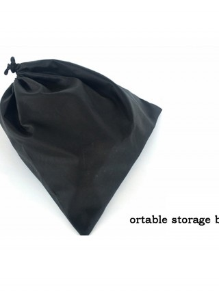 Solid Color Storage Bag Ruched Drawstring Understated Design