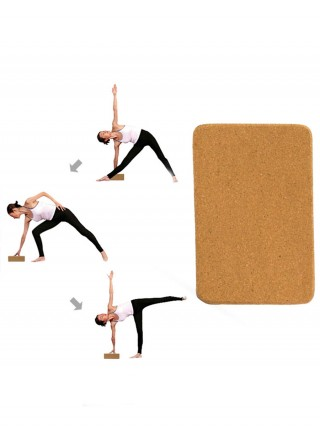 Cork Yoga Brick Solid Color High Density Free Time