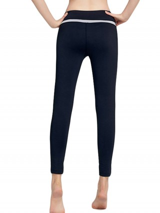 Captivating Black Yoga Leggings Wide Waistband Full Length
