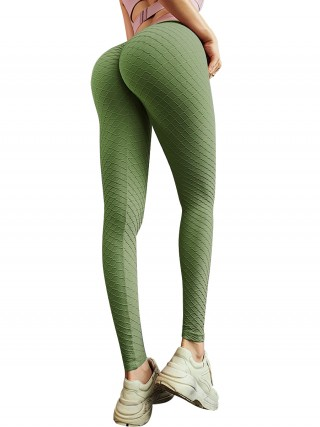 Classy Green Seamless Butt Enhancing Sports Legging For Upscale