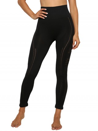 Multi-Function Black Yoga Pants Full Length Seamless Mesh Fashion Ideas