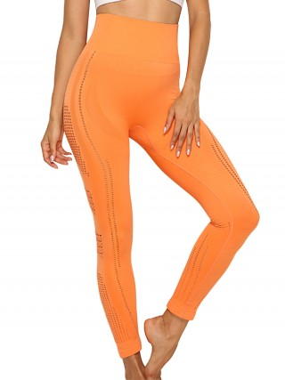 Energetic Orange Mesh Seamless Yoga Legging High Rise Kinetic Weekend
