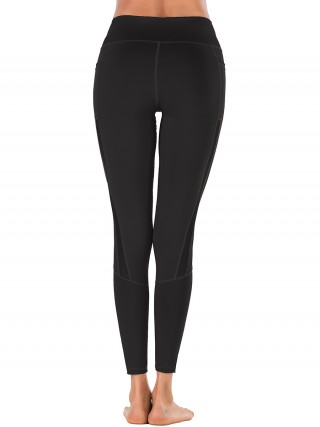 Shop Black Solid Color High Rise Sports Legging Women Activewears