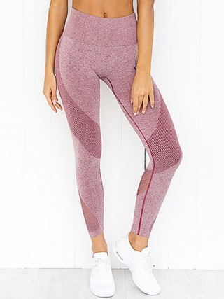 Sensual Silhouette Pink Athletic Legging Lift Butt High Rise