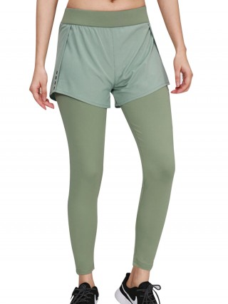 Stretchy Green Running Pants High Waist Reflective Streetstyle