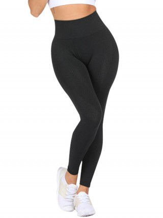 Shop Black High Rise Yoga Leggings Ankle Length Moisture Management