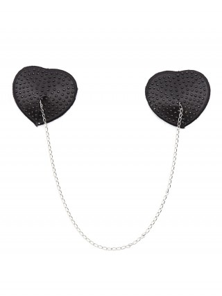 Feminine Black Adhesive Chain Nipple Cover Reusable Evening Romance