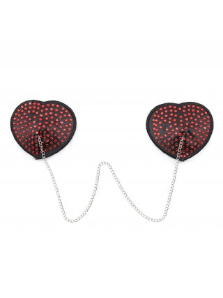 Intimate Red Heart-Shaped Silicone Nipple Cover Fashionable Affordable