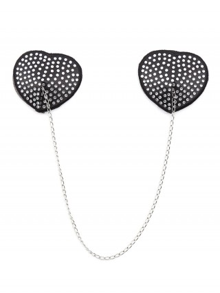 Ultra Cheap White Heart-Shaped Metal Chain Pasties Bra Best Materials