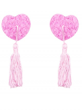 Fantastic Pink Reusable Rose Tassel Nipple Sticker High Grade Woman