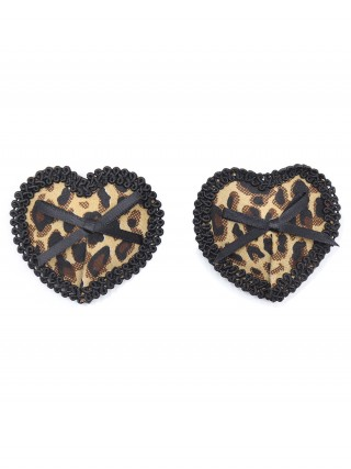 Honourable Bowknot Heart Shape Nipple Cover Girl's High Grade
