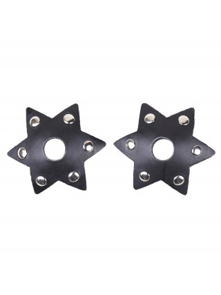 Latest Black Rivet Nipple Cover Hexagonal Star Shape Soft-Touch
