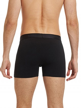 Royal Black Solid Color Male Boxer Briefs Spring Desires