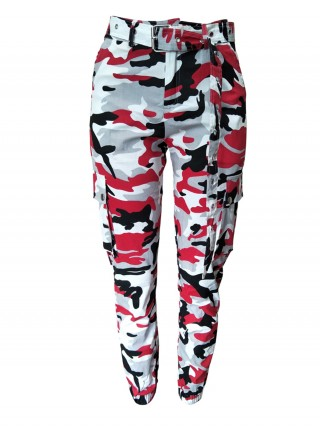 Gracious Camouflage Multi Pockets Cargo Pants Fashion Essential