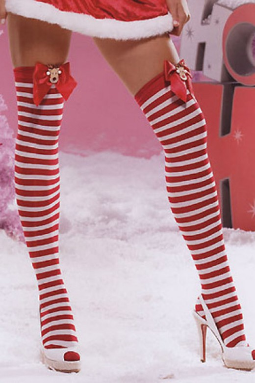 Christmas Stockings with Red Bow