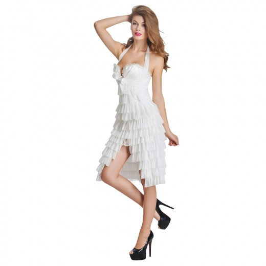 White Lace Up Corset Dress for Sale