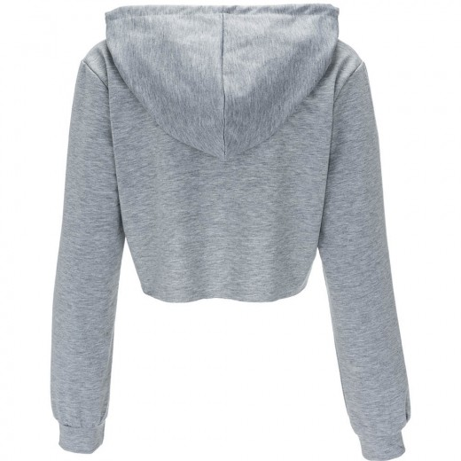 Plain Drawstring Sport Hooded Sweatshirts