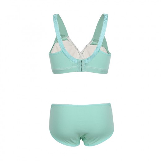 Stretch Green Sleep Maternity Bra Set Padded Underwear